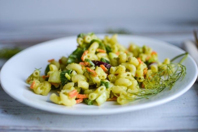 Creamy Avocado Macaroni Salad