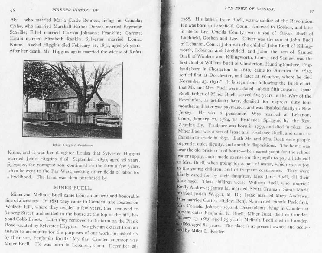 Pioneer History Of Camden N Y