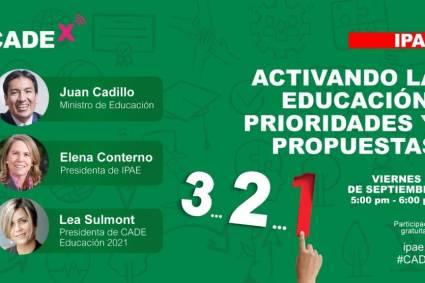 #CADEedu: ministro Juan Cadillo participará este viernes 17 en una sesión abierta para todo el público
