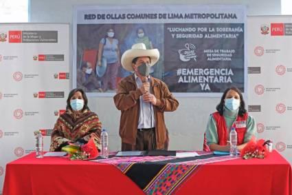 Gobierno destina s/ 99 millones para atender la alimentación de las familias más vulnerables, afirma presidente Castillo