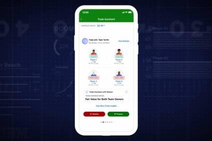 IBM crea experiencia personalizada para Fantasy Football con actualizaciones en el Trade Assistant with Watson y Player Insights, en la ESPN Fantasy App