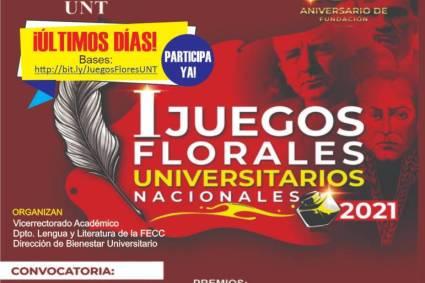 UNT organiza Juegos Florales Universitarios 2021