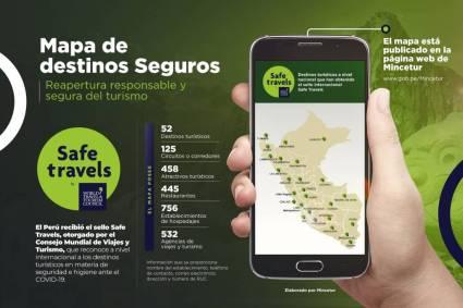 Atención turistas conoce en mapa virtual los destinos, atractivos y establecimientos turísticos con el sello Safe Travels