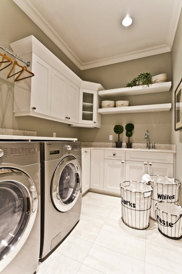 51 wonderfully clever laundry room design ideas on laundry room wall covering ideas id=94192