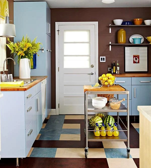 Small Kitchen Space Ideas: 48 Amazing Space-saving Small Kitchen Island Designs