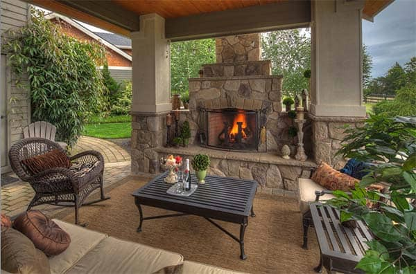 53 Most amazing outdoor fireplace designs ever on Amazing Outdoor Fireplaces  id=84456