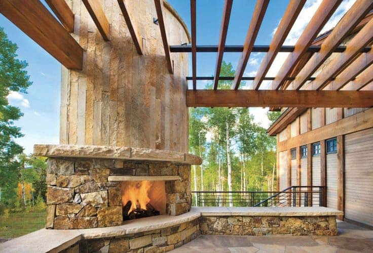 53 Most amazing outdoor fireplace designs ever on Amazing Outdoor Fireplaces  id=35374