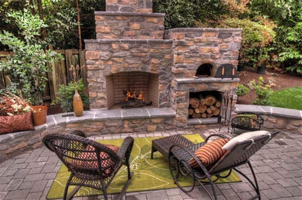 53 Most amazing outdoor fireplace designs ever on Amazing Outdoor Fireplaces  id=14122