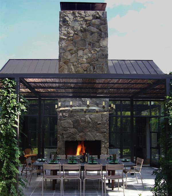 53 Most amazing outdoor fireplace designs ever on Amazing Outdoor Fireplaces  id=15564