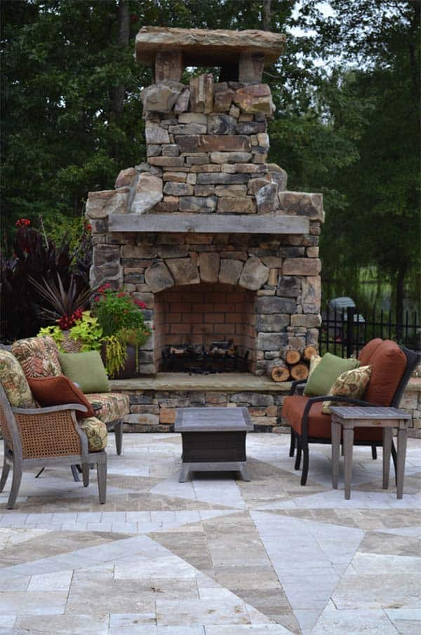 53 Most amazing outdoor fireplace designs ever on Amazing Outdoor Fireplaces id=16021