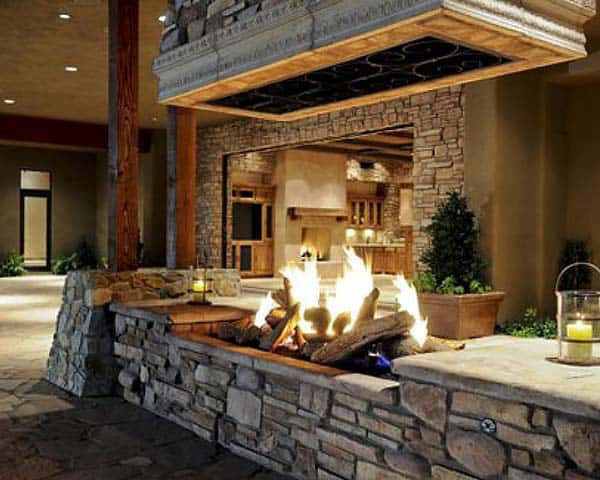 53 Most amazing outdoor fireplace designs ever on Amazing Outdoor Fireplaces  id=99307