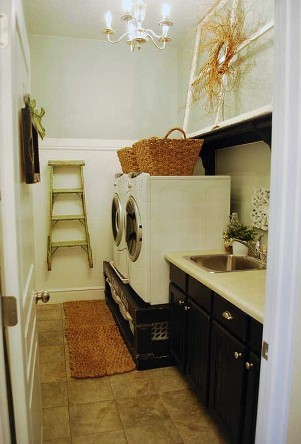 60 Amazingly inspiring small laundry room design ideas on Small Laundry Ideas  id=53070