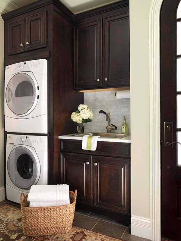 60 Amazingly inspiring small laundry room design ideas on Laundry Room Cabinet Ideas  id=34994