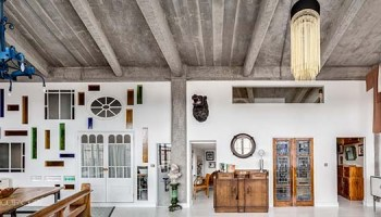 open plan london flat exhibits fresh industrial design elements