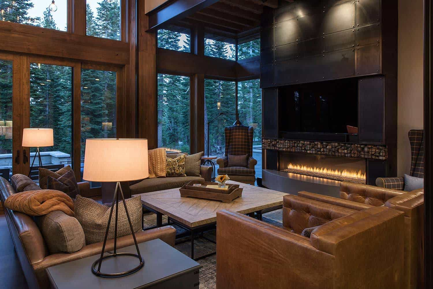 Lake tahoe getaway features contemporary barn aesthetic for V d interior designer