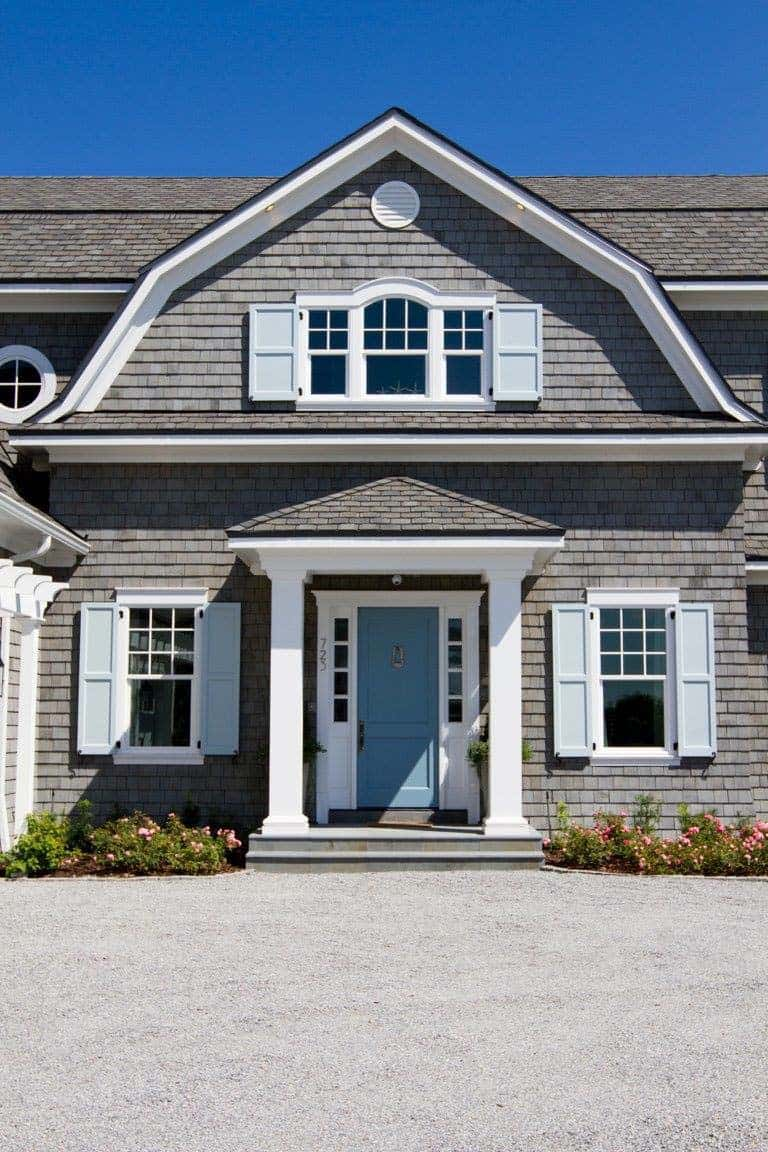 Coastal chic shingle style gambrel home in sunny florida for Shingle sided homes
