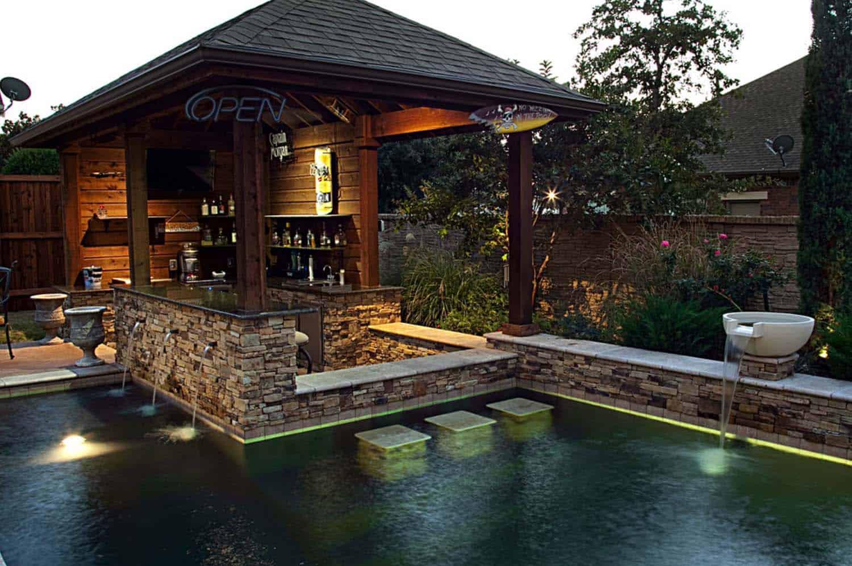 33 Mega-Impressive swim-up pool bars built for entertaining on Backyard Pool Bar Designs id=91560