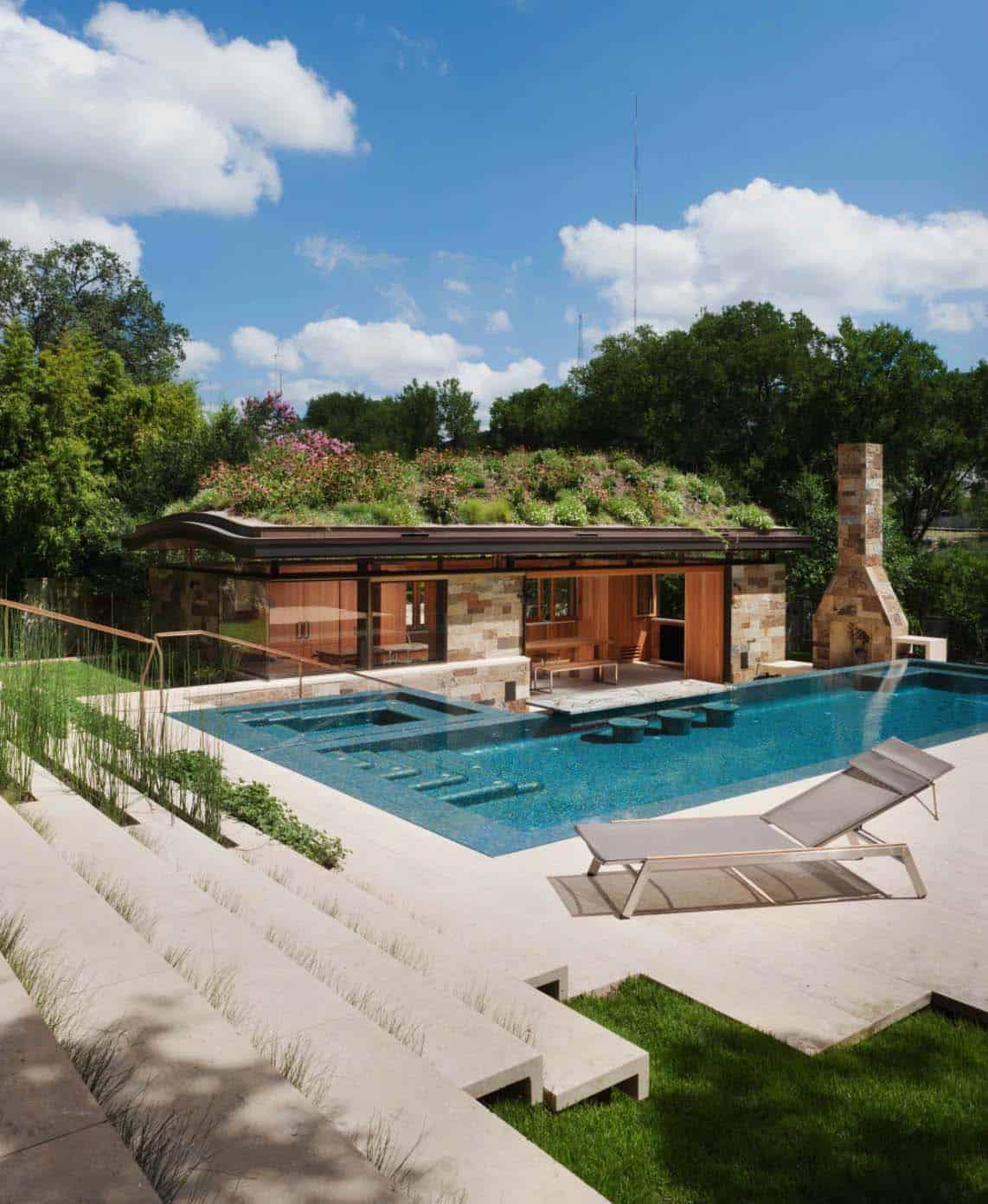 33 Mega-Impressive swim-up pool bars built for entertaining on Backyard Pool Bar Designs  id=16863