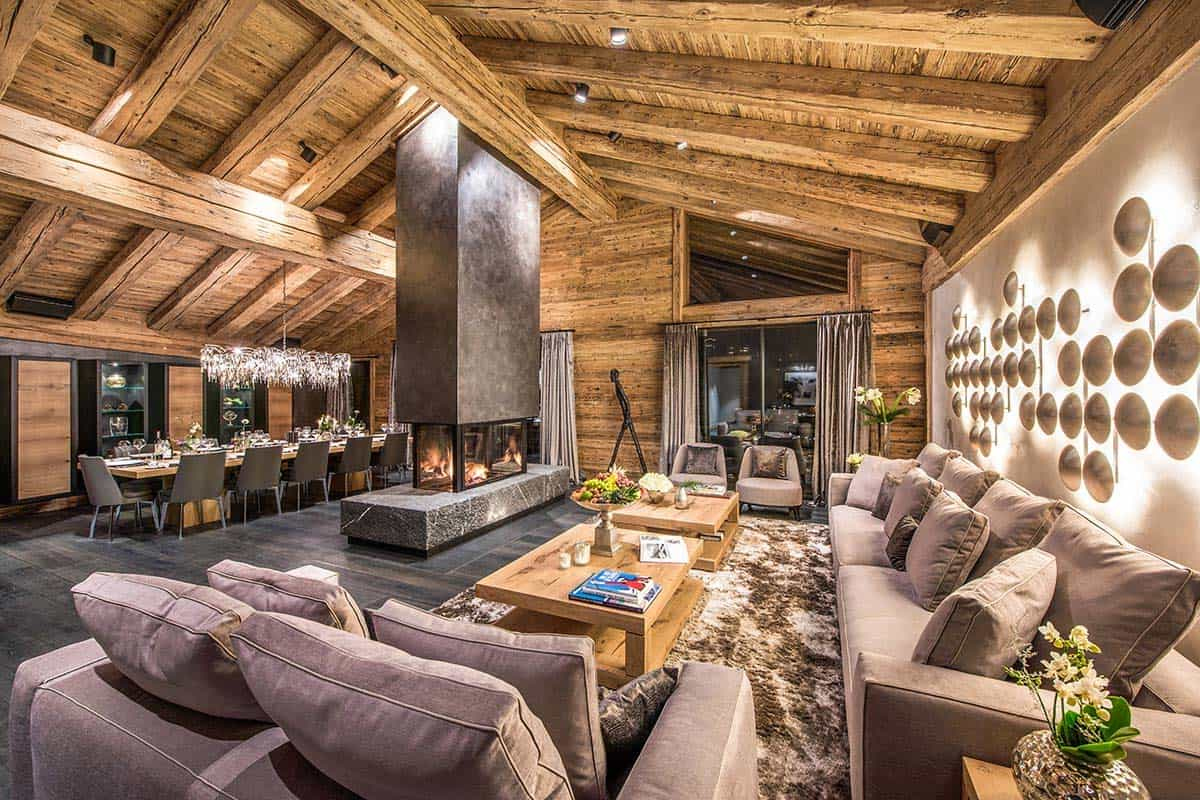 luxurious chalet in the swiss alps offers ski resort winter escape