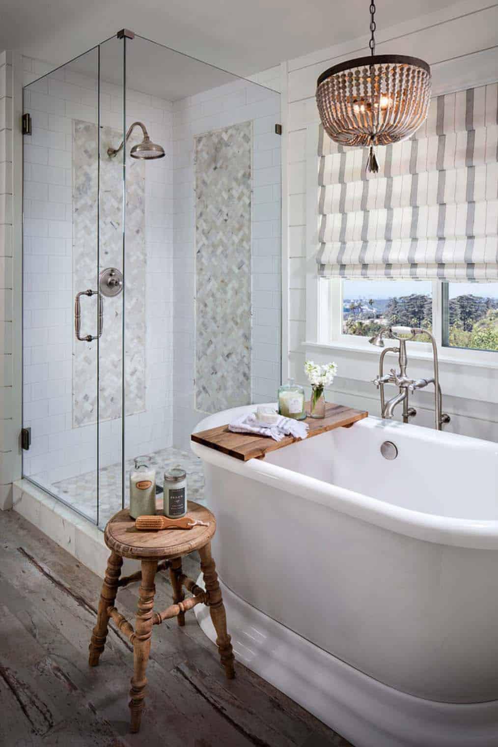 21 Gorgeous farmhouse style bathrooms you will love on Farmhouse Tile Bathroom Floor  id=36769