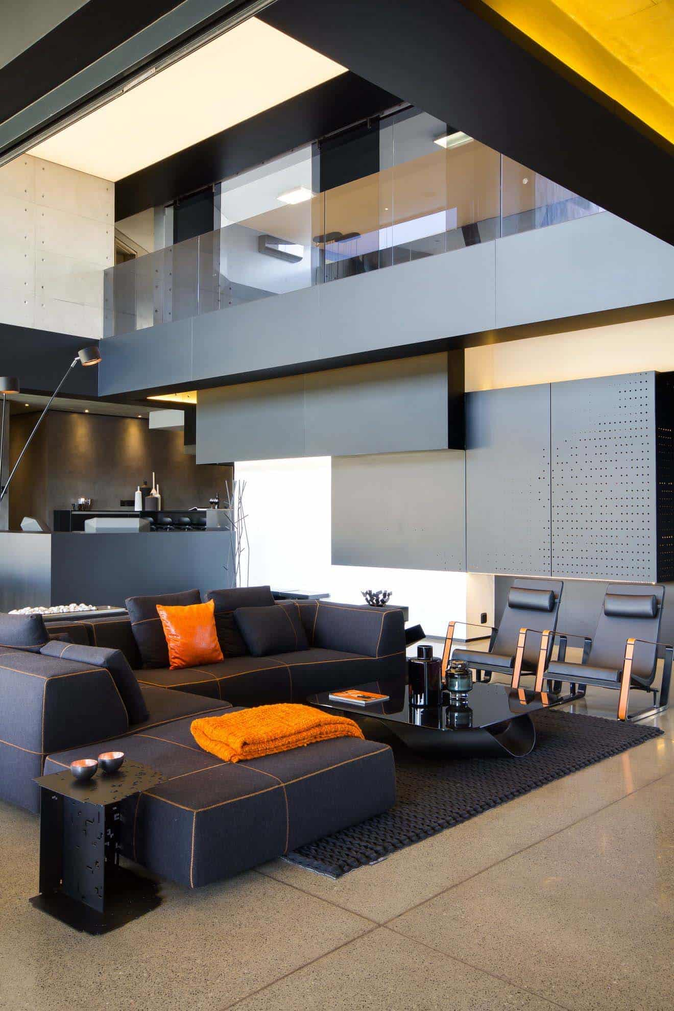 imposing wandbemalung modern - imposing concrete glass and steel residence in south africa