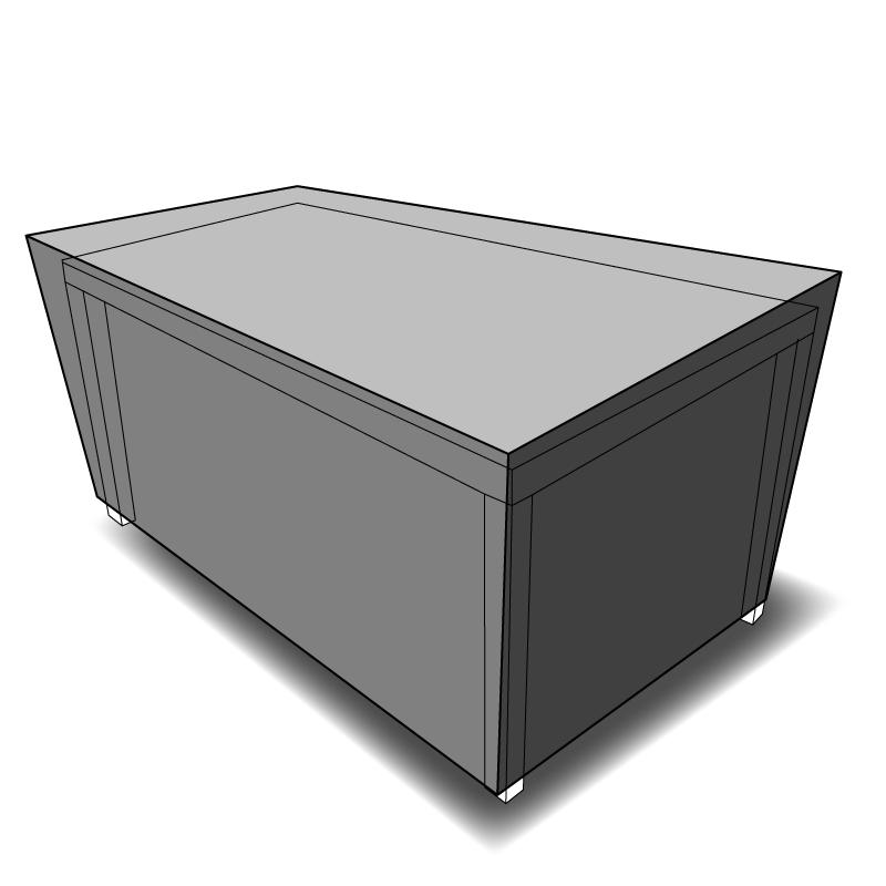 Housse de protection sur mesure table rectangulaire