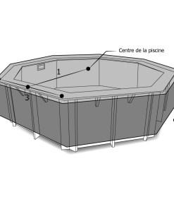 Housse piscine octogonale