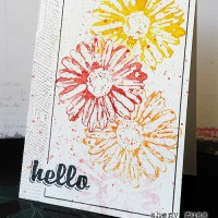 Paper craft project no. 204: Hello one layer watercolor card