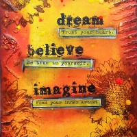 Paper craft project no. 269: Dream Believe Imagine mixed media block [with video tutorial]