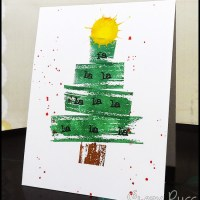 Paper craft project no. 318: Fa la la la la la la la la one layer card