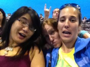 this is Rachel, Cass and me (at a concert last summer)