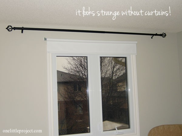 Curtain Rod Without Curtains
