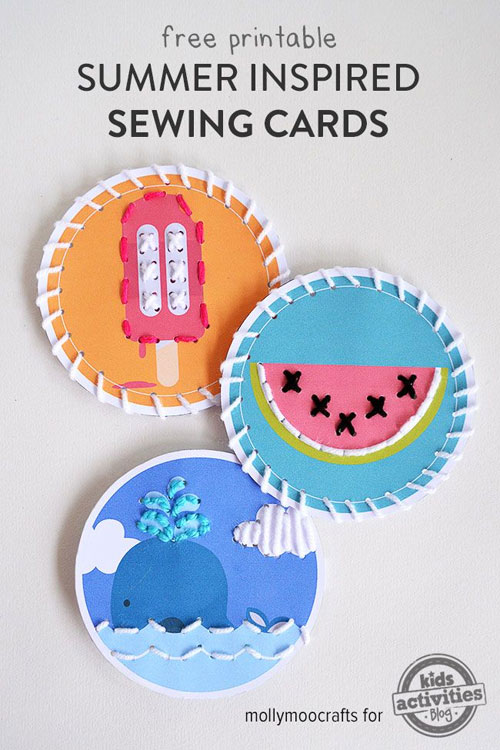 40+ DIY Travel Activities - Summer Inspired Sewing Cards