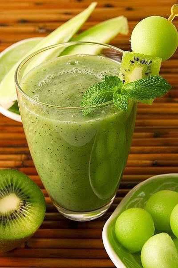 50+ Best Kiwi Recipes - Honeydew Kiwi Smoothie