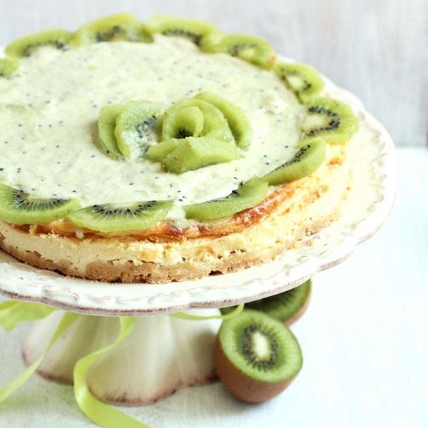 50+ Best Kiwi Recipes - Kiwi Mousse Cheesecake