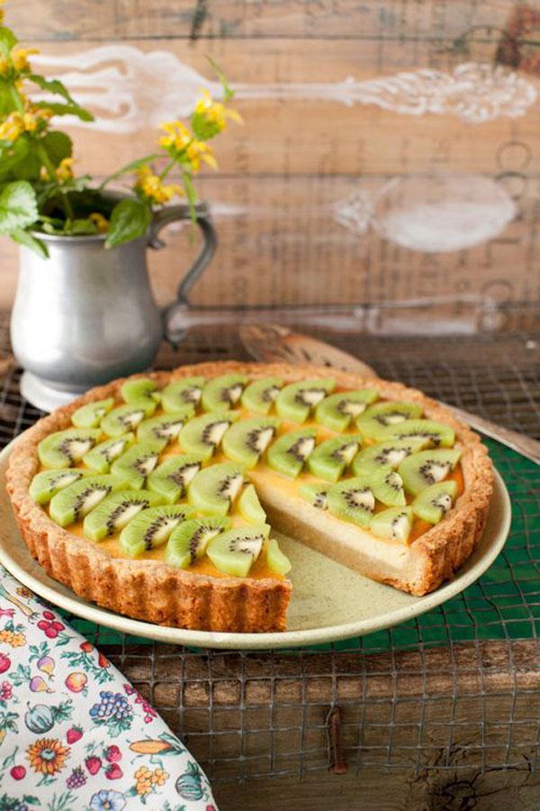 50+ Best Kiwi Recipes - Kiwi Ricotta Cheese Tart