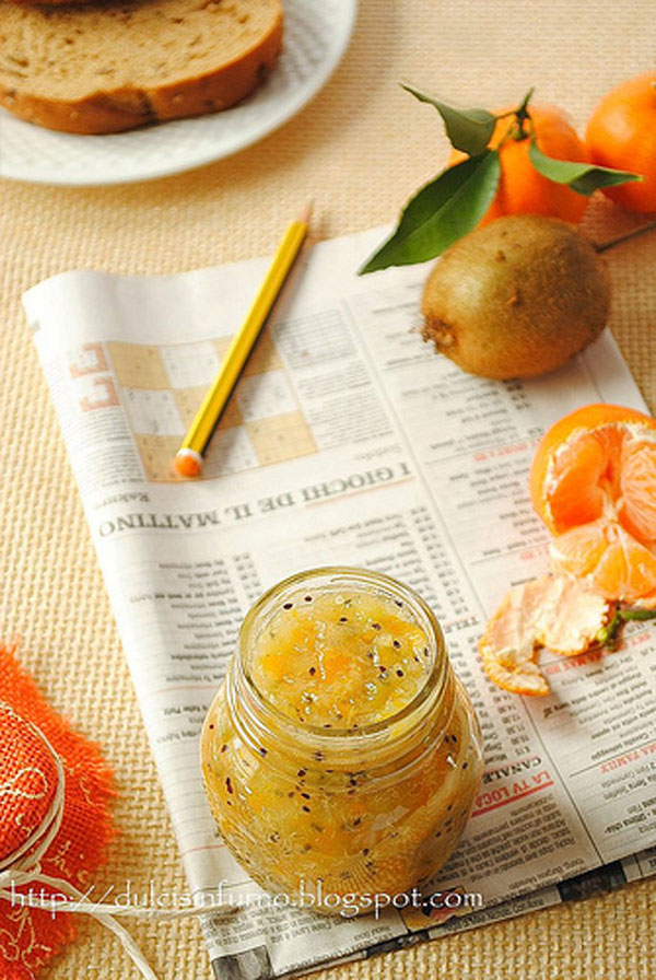 50+ Best Kiwi Recipes - Kiwi and Tangerine Jam