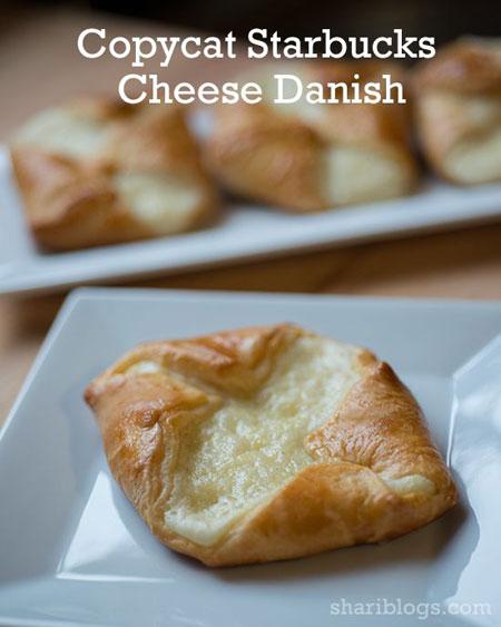 50+ Homemade Starbucks Recipes - Easy Cheese Danish