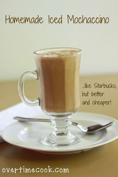 50+ Homemade Starbucks Recipes - Iced Mochaccino