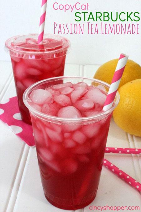 50+ Homemade Starbucks Recipes - Passion Tea Lemonade