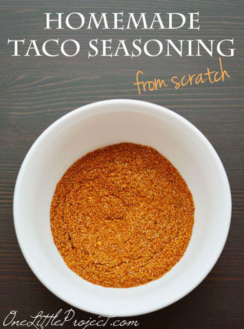 30+ Foods You Can Make Yourself - Homemade Taco Seasoning