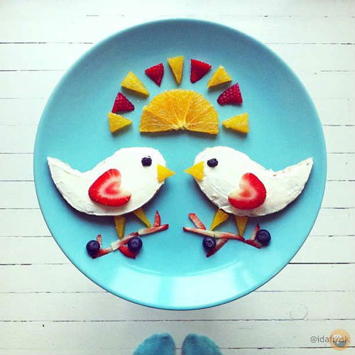 50+ Kids Food Art Lunches - Cream Cheese Early Bird