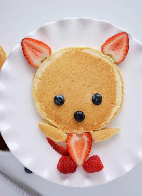 50+ Kids Food Art Lunches - Cute Pancake Fox