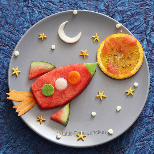 50+ Kids Food Art Lunches - Mission to Mars