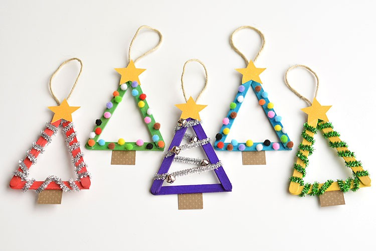 Image result for popsicle stick christmas tree