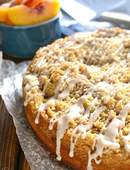 50+ Best Peach Recipes - Peach Cobbler Coffee Cake