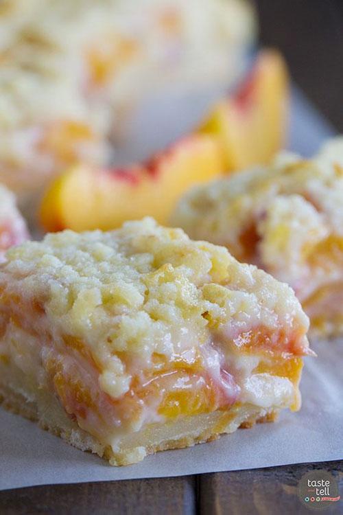 50+ Best Peach Recipes - Peaches and Cream Bars