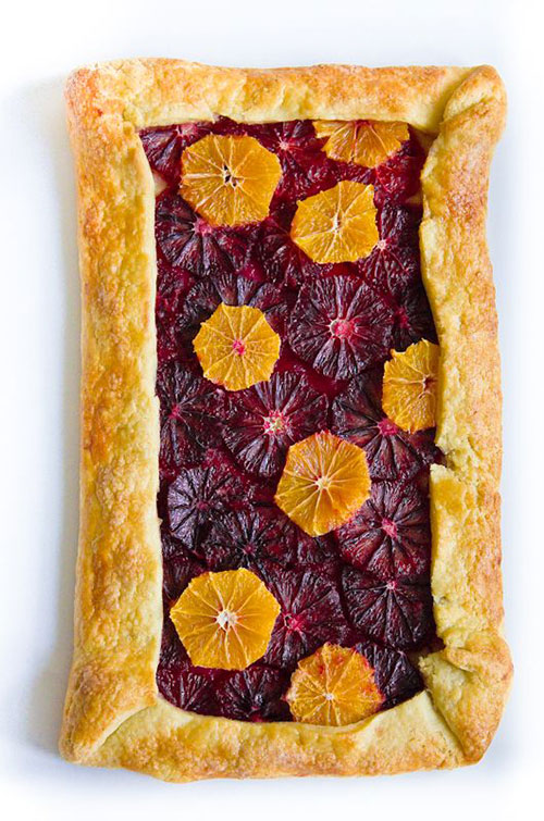 50+ Best Recipes for Fresh Clementines - Blood Orange and Clementine Galette