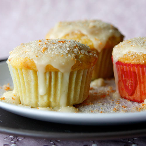 50+ Best Recipes for Fresh Clementines - Clementine Muffins with Clementine Glaze
