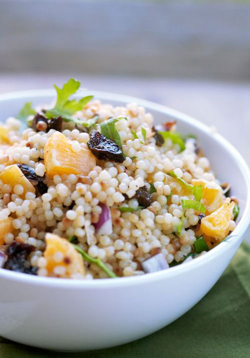 50+ Best Recipes for Fresh Clementines - Israeli Couscous Clementine Salad